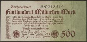 R.124a: 500 Milliarden Mark 1923 Reichsdruck (1/1-)