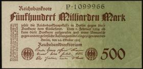 R.124a: 500 Milliarden Mark 1923 Reichsdruck (2)