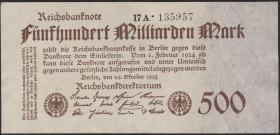 R.124d: 500 Mrd. Mark 1923 (1-)
