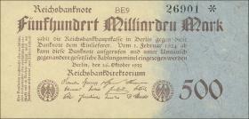 R.124e: 500 Mrd. Mark 1923 (1-)