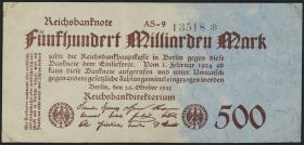 R.124e: 500 Mrd. Mark 1923 (2-)