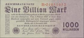R.126a: 1 Billion Mark 1923 Reichsdruck (1)