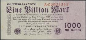 R.126a: 1 Billion Mark 1923 Reichsdruck (2)