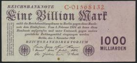 R.126a: 1 Billion Mark 1923 Reichsdruck (2)