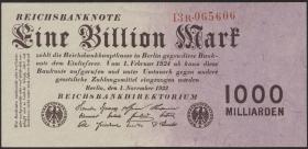 R.126b: 1 Billion Mark 1923 Firmendruck (1/1-)