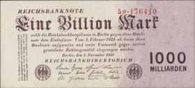 R.126b: 1 Billion Mark 1923 Firmendruck (1)