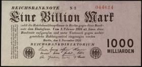 R.126c: 1 Billion Mark 1923 (2+)