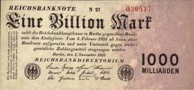 R.126c: 1 Billion Mark 1923 (1)