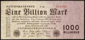 R.126c: 1 Billion Mark 1923 (3)