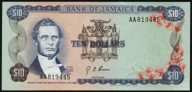 Jamaika / Jamaica P.57 10 Dollars (1970) (1)