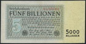 R.127b: 5 Billionen Mark 1923 (3+)