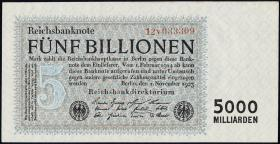 R.127c: 5 Billionen Mark 1923 (2+)