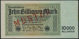 R.128M4 10 Billionen Mark 1923 MUSTER (1-)