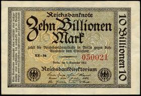 R.129b 10 Billionen Mark 1923 (1/1-)