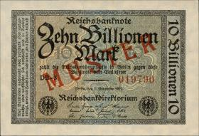 R.129M2 10 Billionen Mark 1923 MUSTER Aufdruck (1)
