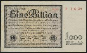 R.131b: 1 Billion Mark 1923 Firmendruck (3+)