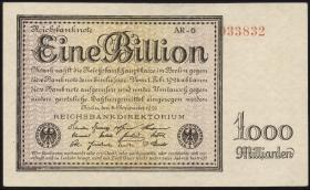 R.131d: 1 Billion Mark 1923 Privatdruck (2+)