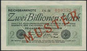 R.132M1 2 Billionen Mark 1923 Muster (1-)