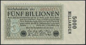 R.133g: 5 Billionen Mark 1923 (3+)