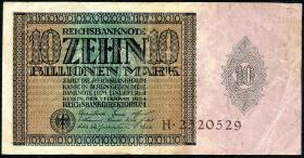 R.134: 10 Billionen Mark 1924 (3-)