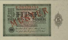 R.138M: 5 Billionen Mark 1924 Muster Aufdruck (1)