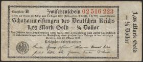 R.140b: 1,05 Mark Gold = 1/4 Dollar RBD 1923 (3)