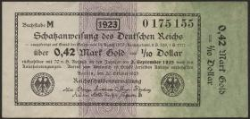 R.142a: 0,42 Mark Gold = 1/4 Dollar 1923 (2)