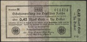 R.142a: 0,42 Mark Gold = 1/4 Dollar 1923 (3)