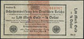 R.143d: 1,05 Mark Gold = 1/4 Dollar 1923 (3)