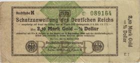 R.144a 2,10 Mark Gold = 1/2 Dollar 1923 (3-)