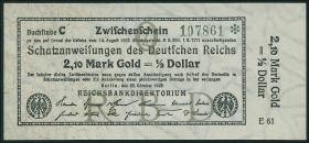 R.141a: 2,10 Mark Gold = 1/2 Dollar 1923 (1)