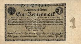 R.154a: 1 Rentenmark 1923 Reichsdruck (1)