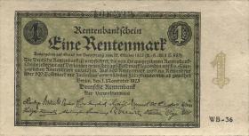 R.154b 1 Rentenmark 1923 Firmendruck (1/1-)