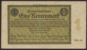 R.154b 1 Rentenmark 1923 Firmendruck (2/1)