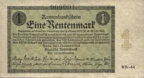 R.154b: 1 Rentenmark 1923 Firmendruck (2) Nr.1