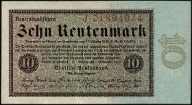 R.157 10 Rentenmark 1923 (2+)