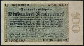 R.159: 100 Rentenmark 1923 (3+)