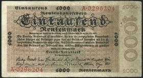 R.161 1000 Rentenmark 1923 (3-)