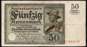 R.162: 50 Rentenmark 1925 (3-)