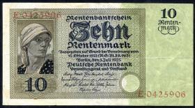 R.163: 10 Rentenmark 1925 (3/3+)