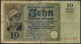 R.163: 10 Rentenmark 1925 (4-)