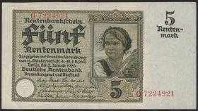 R.164a: 5 Rentenmark 1926 7-stellig (3)