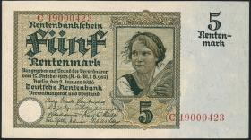R.164b: 5 Rentenmark 1926 8-stellig (1-)