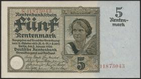 R.164b: 5 Rentenmark 1926 8-stellig (1)