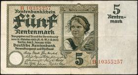 R.164b: 5 Rentenmark 1926 (3)