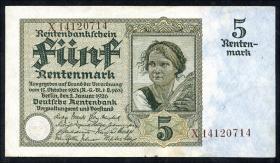 R.164F: 5 Rentenmark 1926 (2)