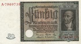 R.165: 50 Rentenmark 1934 v. Stein (3+)