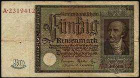 R.165: 50 Rentenmark 1934 v.Stein (3-)