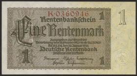 R.166a: 1 Rentenmark 1937 Reichsdruck 7-stellig (1)