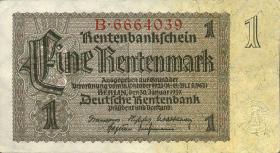 R.166a: 1 Rentenmark 1937 Reichsdruck 7-stellig (2/1)